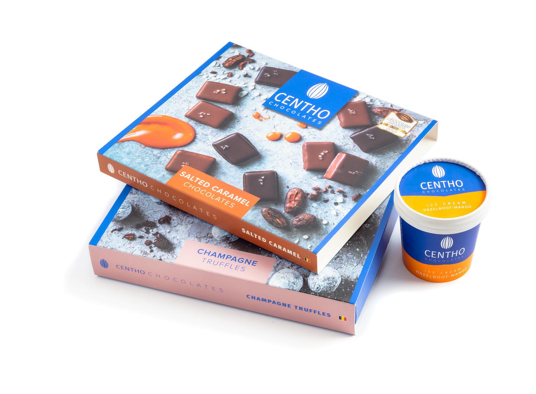 Verpakkingen chocolade bedrukt door Drukkerij M. Janssens